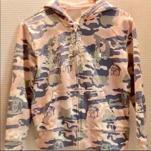 GAP STARWARS HOODY SEQUINSZIP UP CAMO PATTERN XL